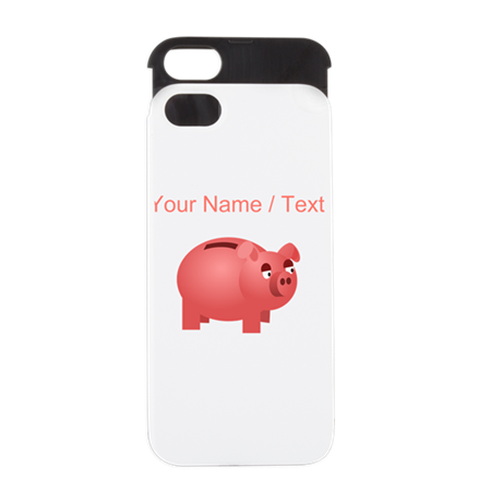 Custom Piggy Bank iPhone 5 Wallet Case