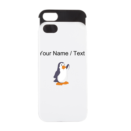 Custom Cartoon Penguin iPhone 5 Wallet Case