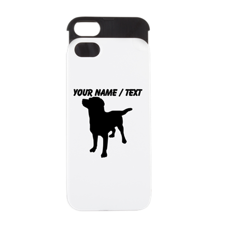 Custom Dog Silhouette iPhone 5 Wallet Case