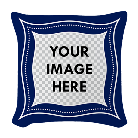 Woven Blue Throw Pillow : CUSTOM Photo Frame Blue Woven Throw Pillow by MightyBaby