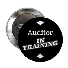 "Cute Auditor in training 2.25"" Button"