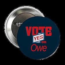 """Unique Vote owe 2.25"""" Button"""