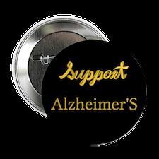 """Cute Support alzheimer%27s 2.25"""" Button"""