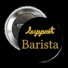 "Cute Support barista 2.25"" Button"
