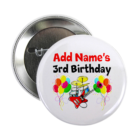 happy 3rd birthday button by jlporiginals. Black Bedroom Furniture Sets. Home Design Ideas