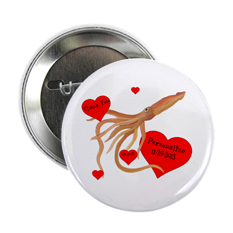 "Personalized Squid 2.25"" Button"