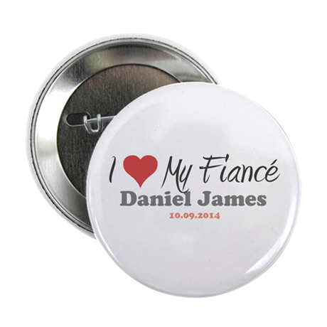 "I Heart My Fiancé 2.25"" Button"