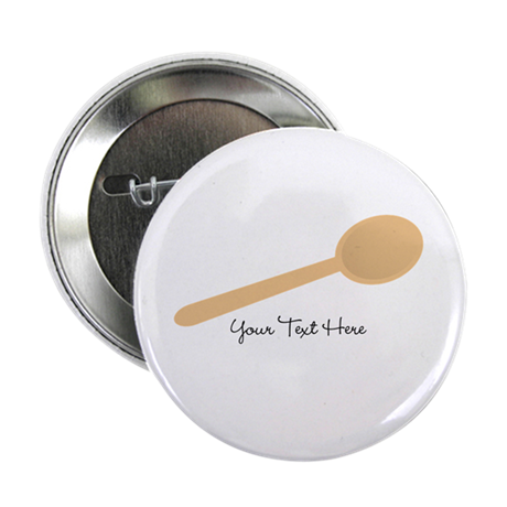 """Spoon. Wooden. 2.25"""" Button"""