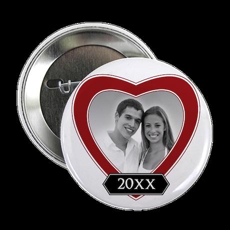 "ADD PHOTO - heart frame 2.25"" Button"