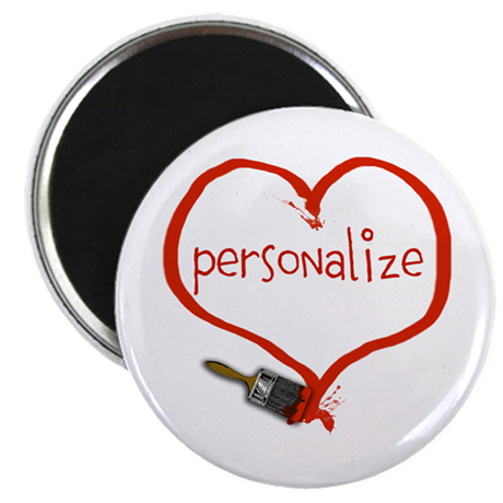 Customizable Painted Heart Magnet