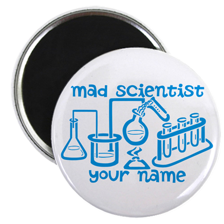 Personalized Mad Scientist Magnet