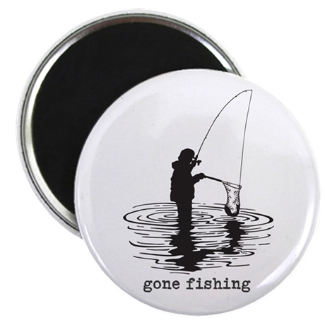 Personalized Gone Fishing Magnet