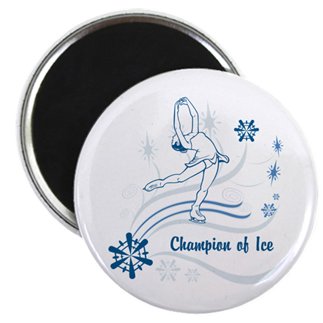 Personalized Ice Skater Magnet