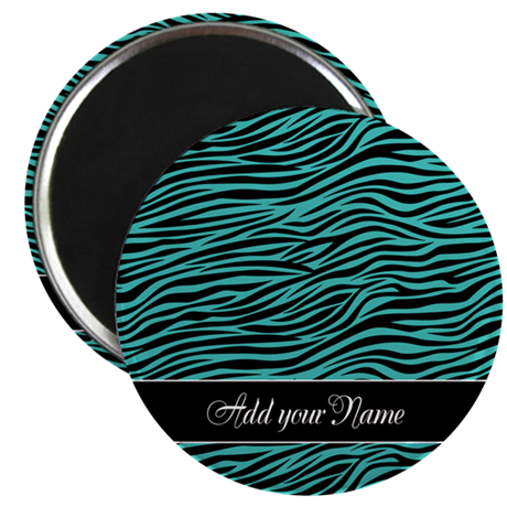 Add NAME Zebra Stripes Magnet