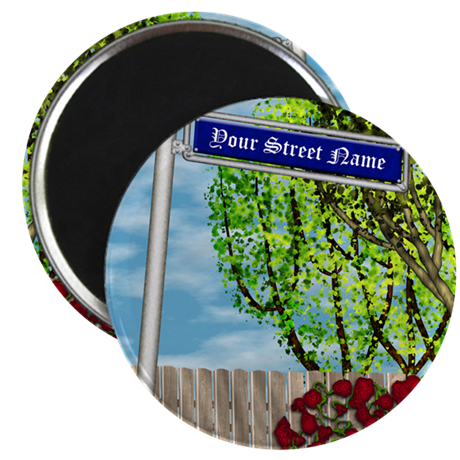 personalizable vintage street Magnet