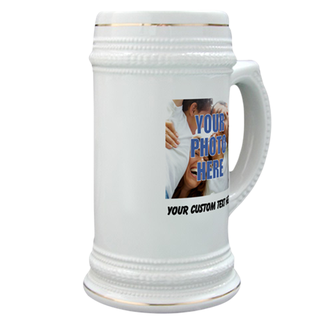 Custom Photo and Text Stein