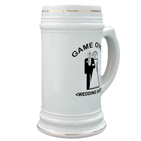 Game Over (Your Wedding Date) Stein