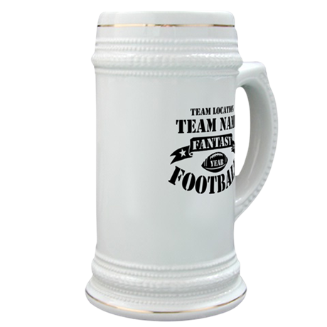 Fantasy Football Personalized Team Stein