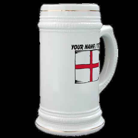 Custom England Flag Stein
