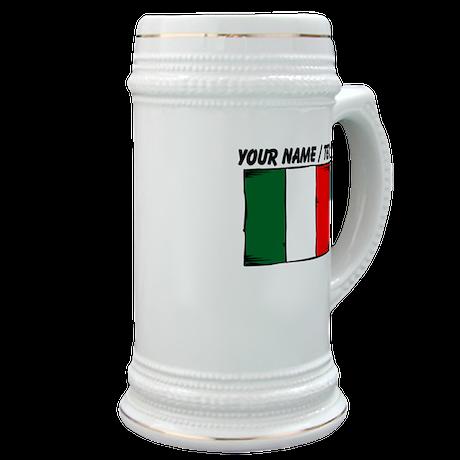 Custom Italy Flag Stein