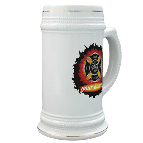 Personalized Fire and Rescue Stein