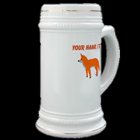 Custom Orange Fox Pup Stein