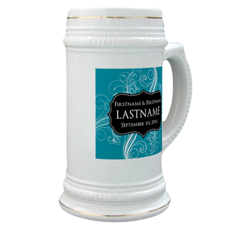 Wedding Favors with a Pattern Stein