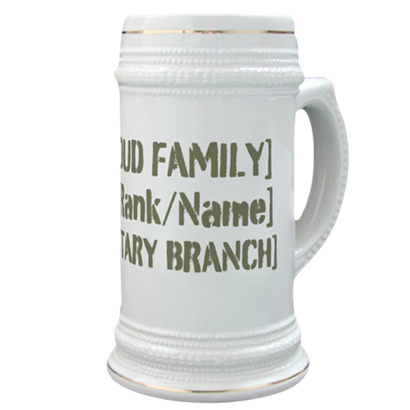 PERSONALIZED Military Family [vintage] Stein