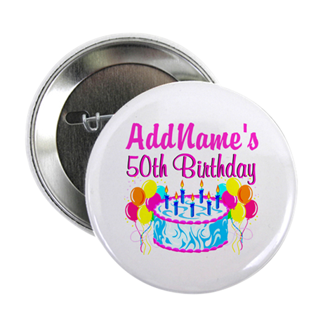 50th party button 10 pack by jlporiginals for 50th birthday decoration packs