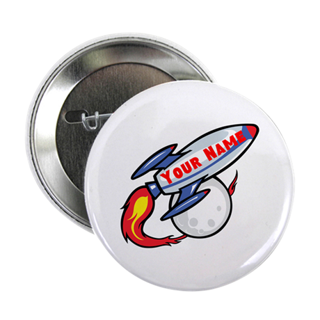 """Personalized rocket 2.25"""" Button (10 pack)"""