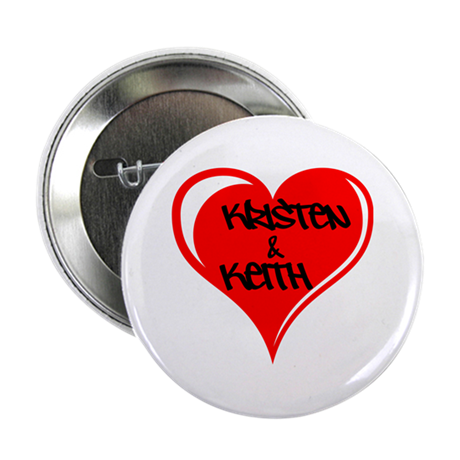 """Personalized with names Valentines day heart 2.25"""""""