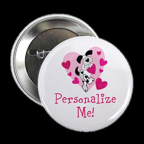 """Valentine Puppy 2.25"""" Button (10 pack)"""