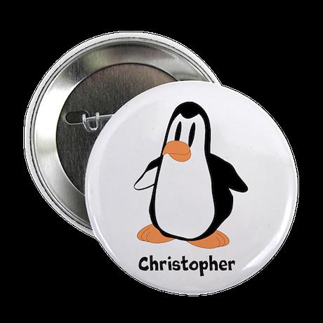 "Personalized Penguin Design 2.25"" Button (10 pack)"