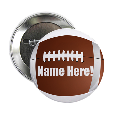 "Personalized Football 2.25"" Button (10 pack)"