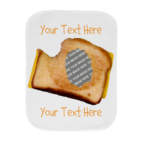 YOUR FACE Grilled Cheese Sandwich Burp Cloth