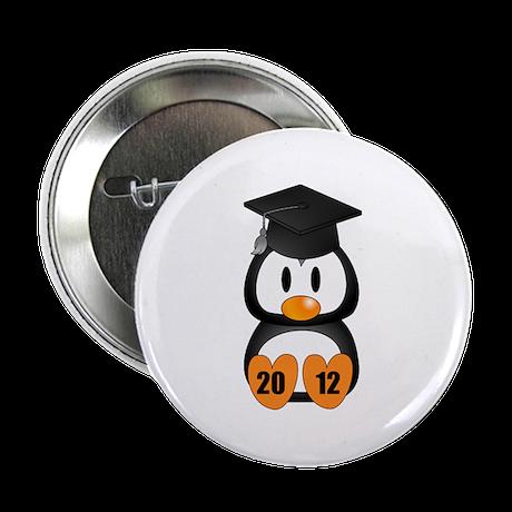 "Custom Gradution Penguin 2.25"" Button (100 pack)"