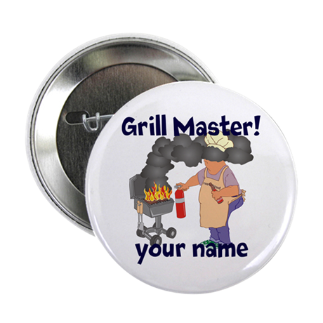 """Personalized Grill Master 2.25"""" Button (100 pack)"""
