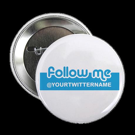 "Personalizable Twitter Follow 2.25"" Button (100 pa"