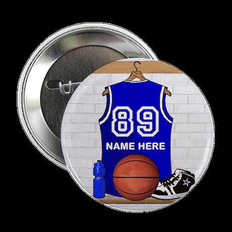 """Personalized Basketball Jerse 2.25"""" Button (100 pa"""