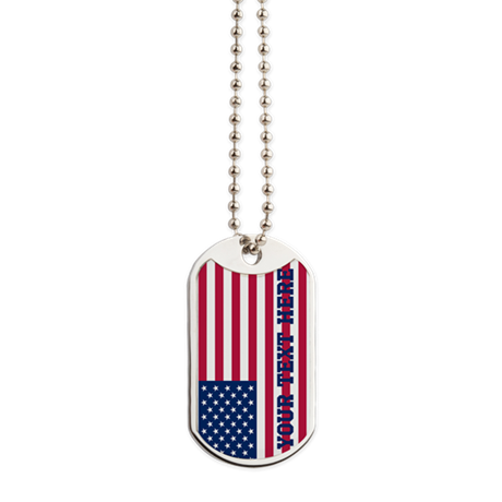 Personalized American Flag Dog Tags