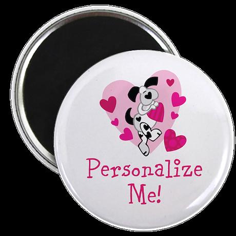 """Valentine Puppy 2.25"""" Magnet (10 pack)"""