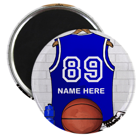 """Personalized Basketball Jerse 2.25"""" Magnet (10 pac"""