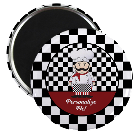 """Personalized French Chef 2.25"""" Magnet (10 pack)"""