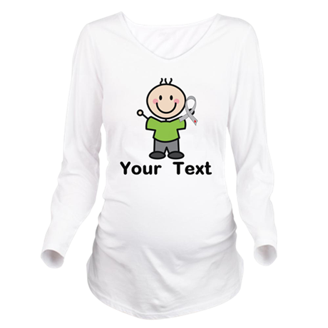 Diabetes Personalize Long Sleeve Maternity T-Shirt