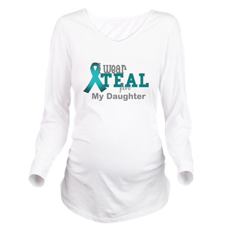 I wear Teal Long Sleeve Maternity T-Shirt