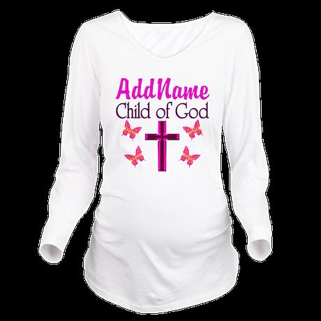 CHILD OF GOD Long Sleeve Maternity T-Shirt