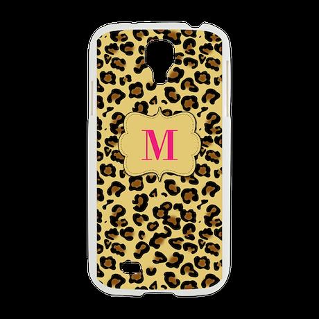 Cheetah Print Pink Monogram Samsung Galaxy S4 Case