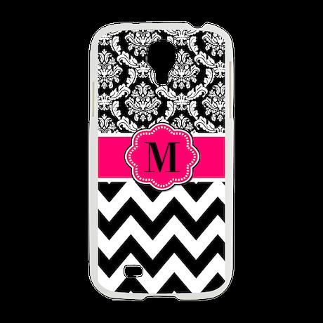 Pink Black Damask Chevron Samsung Galaxy S4 Case