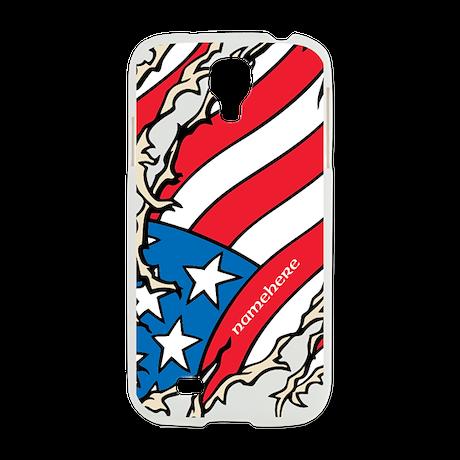 Custom Name American Flag Samsung Galaxy S4 Case