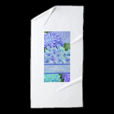 purple hydrangea personalized beach towel by cupcakesandsprinklesbirthdaytees. Black Bedroom Furniture Sets. Home Design Ideas